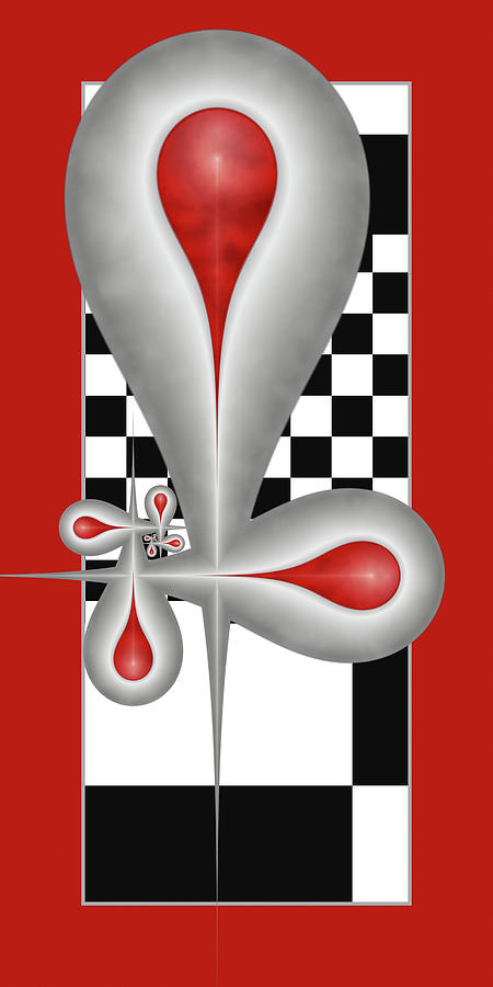 Drops On A Chess Board Digital Art