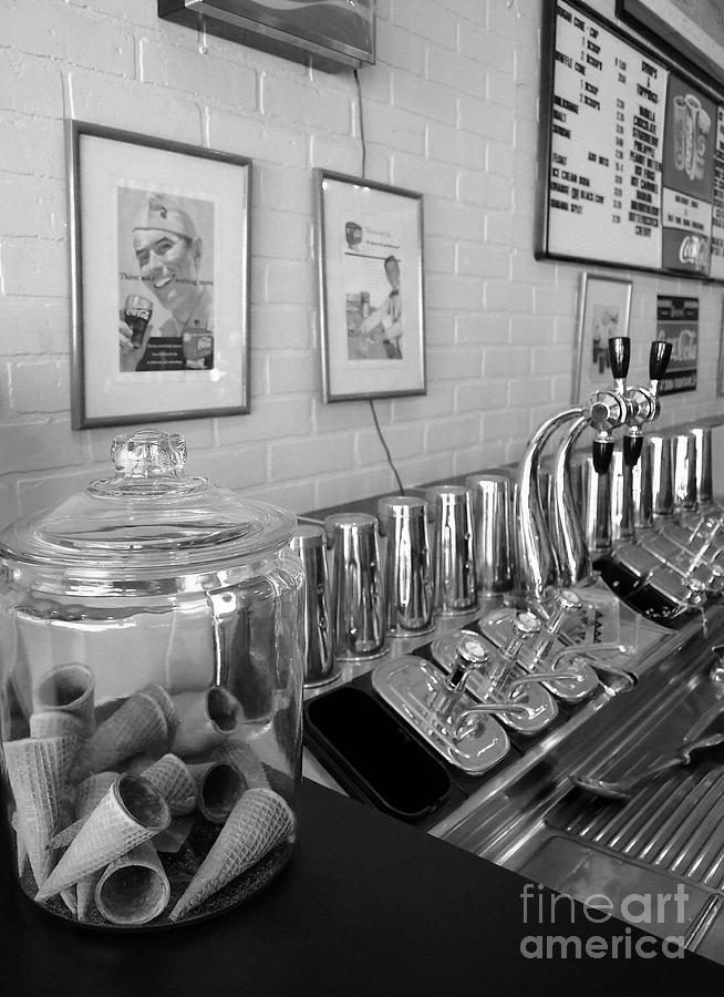 Drug Store Soda Fountain Photograph