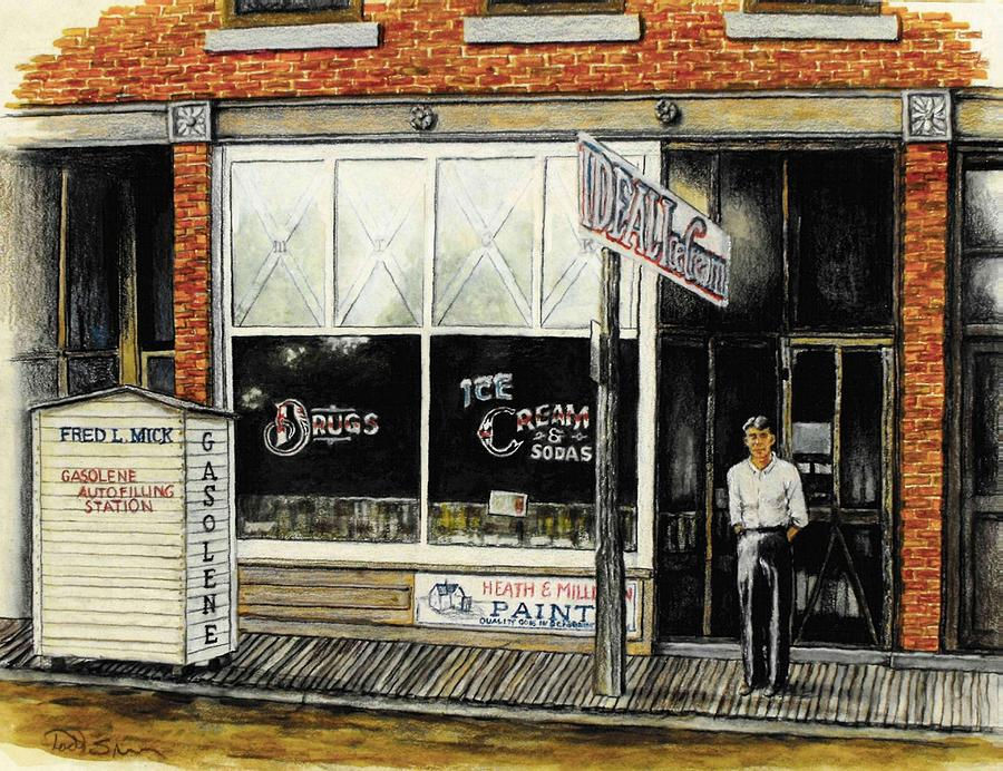 Drugstore-ice Cream Parlor Painting