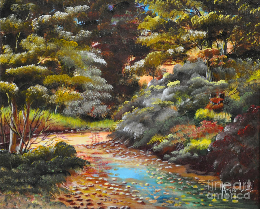 Dry Creek Painting  - Dry Creek Fine Art Print