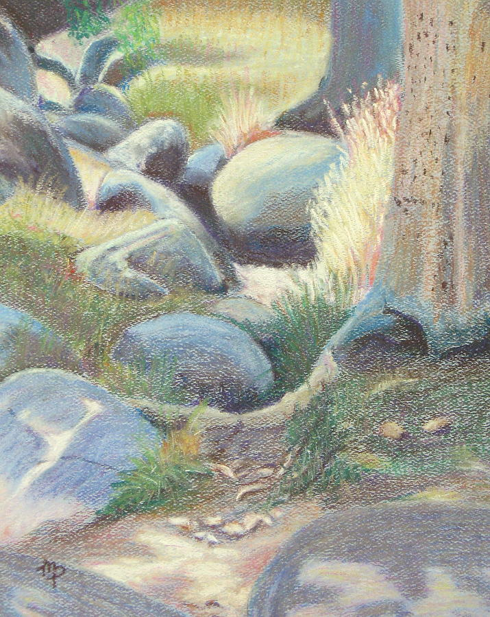 Dry Creek II Pastel  - Dry Creek II Fine Art Print
