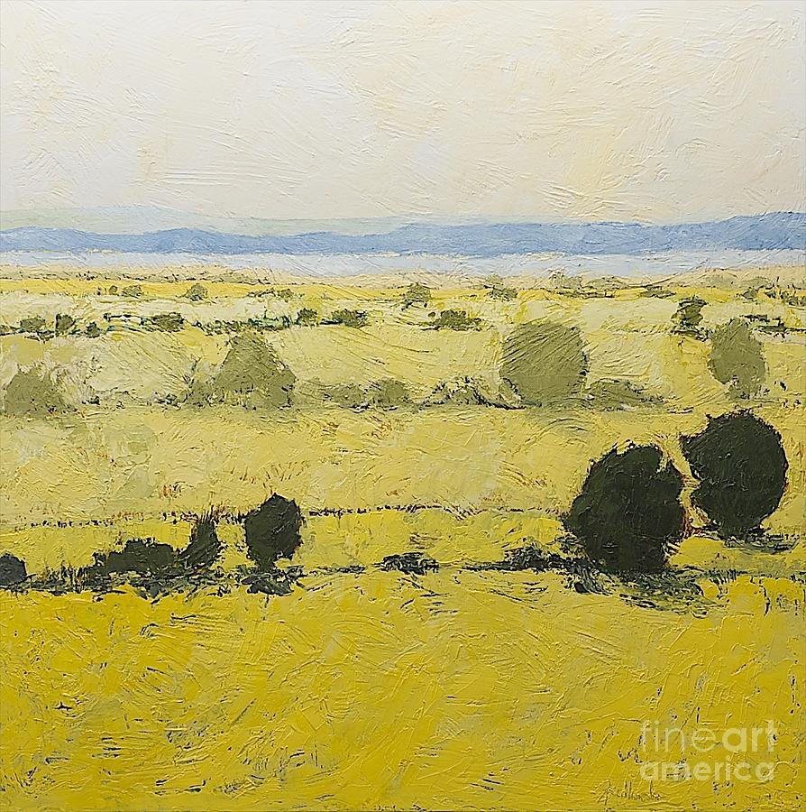 Dry Grass Painting By Allan P Friedlander