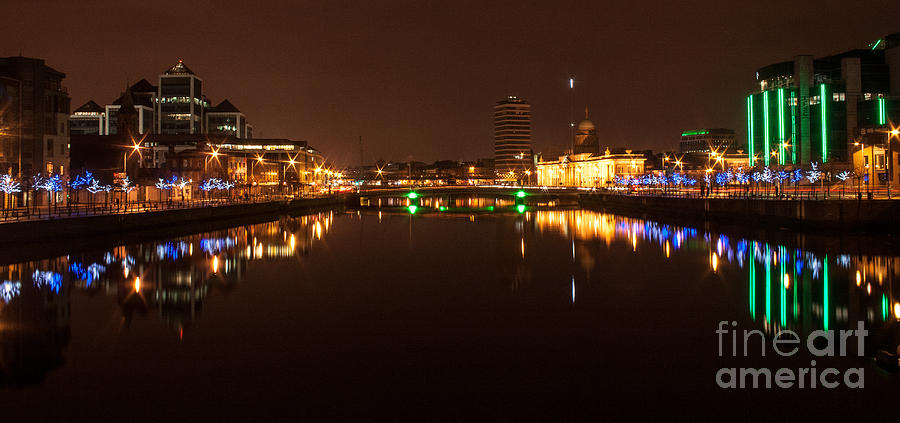 Dublin City At Night Photograph