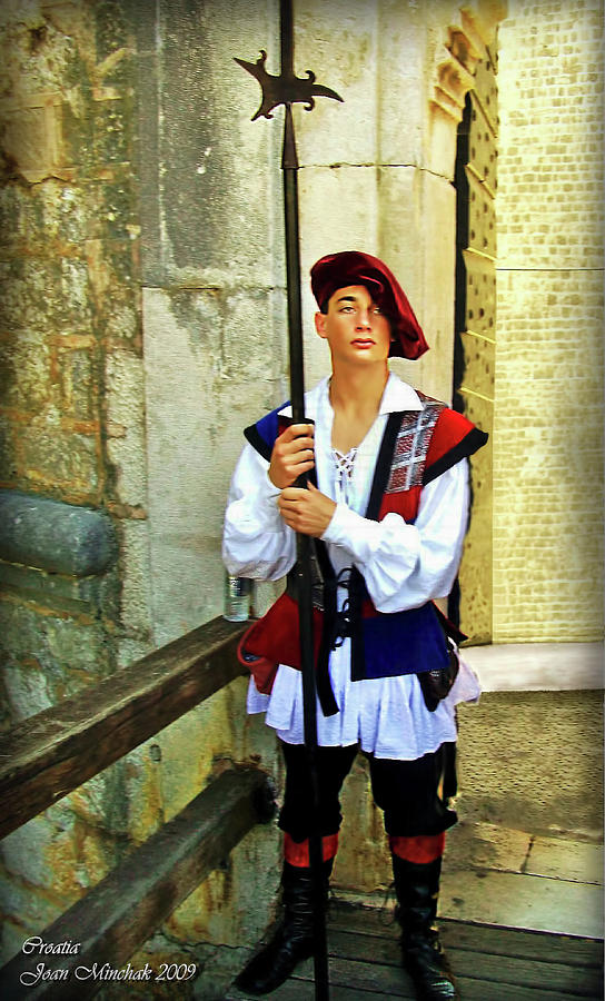 Dubrovnik Guard Digital Art  - Dubrovnik Guard Fine Art Print