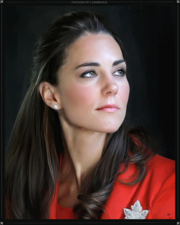 Duchess Of Cambridge Digital Art  - Duchess Of Cambridge Fine Art Print