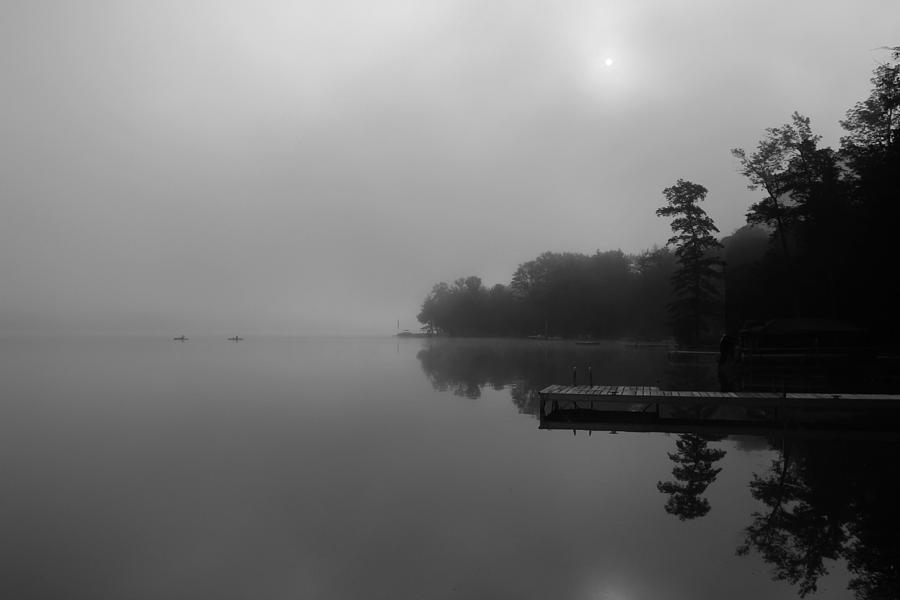 Duck Harbor Early Morning Fog Photograph  - Duck Harbor Early Morning Fog Fine Art Print