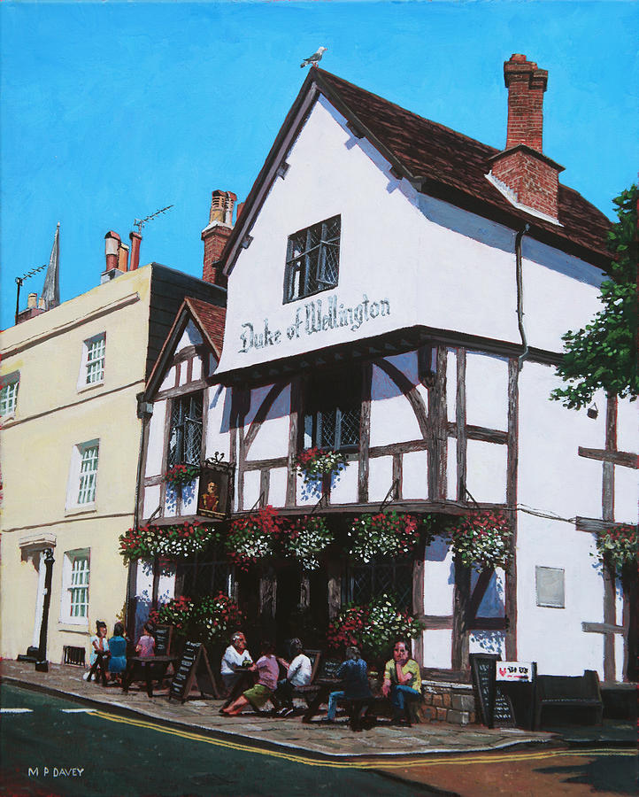Duke Of Wellington Tudor Pub Southampton Painting  - Duke Of Wellington Tudor Pub Southampton Fine Art Print