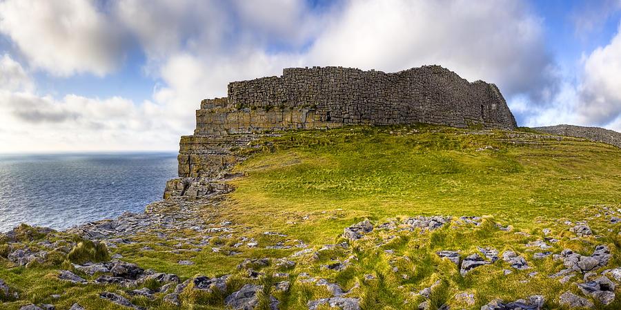 Dun Aengus - Iron Age Ruins Coastal Panorama Photograph