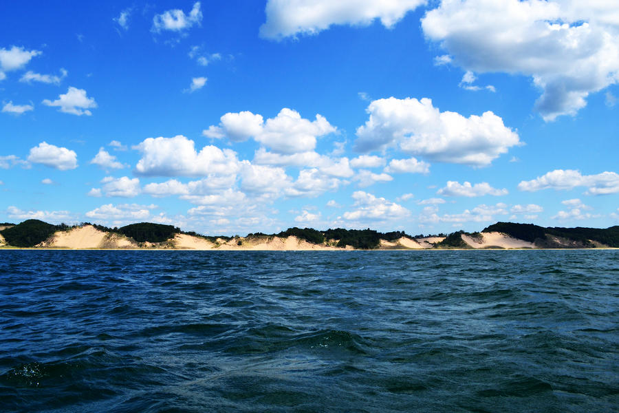 Dunes And Lake Michigan Photograph