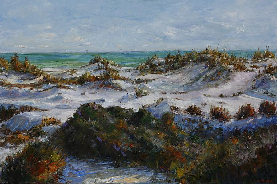 Dunes At Fort Pickens Painting  - Dunes At Fort Pickens Fine Art Print