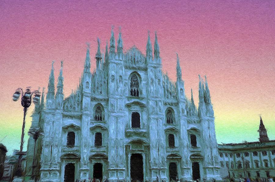 Catholic Painting - Duomo Di Milano by Jeff Kolker