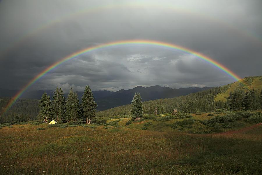 Durango Double Rainbow Photograph