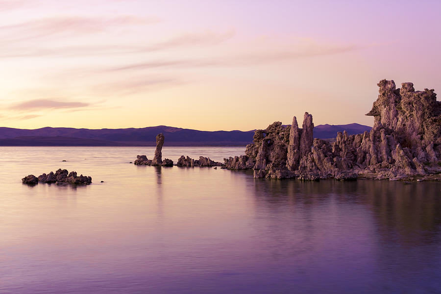 Dusk At Mono Lake Photograph  - Dusk At Mono Lake Fine Art Print