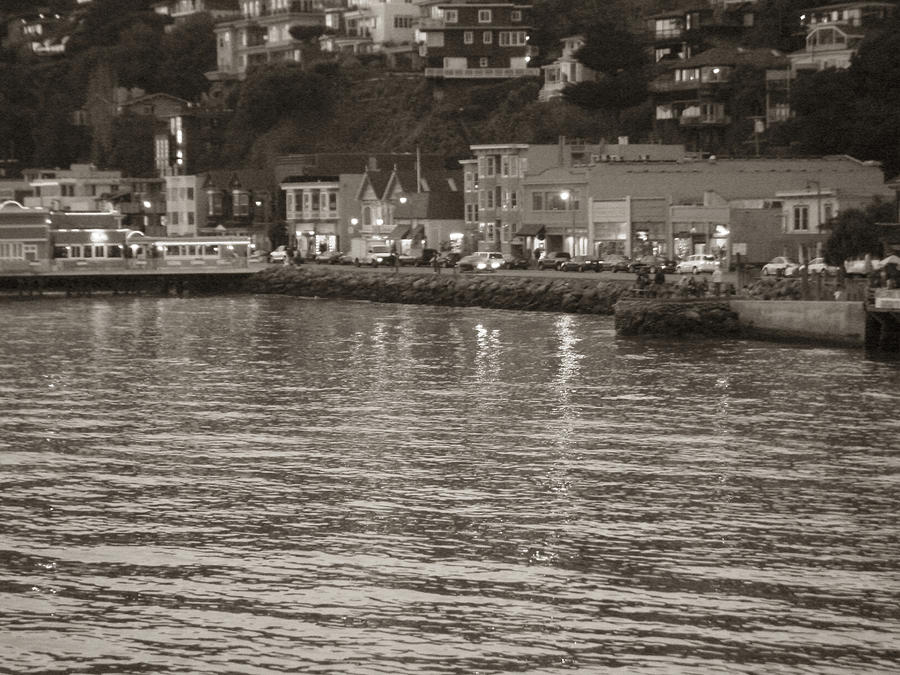 Dusk At Sausalito Photograph