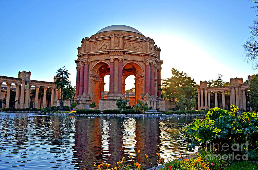 Dusk At The Palace Of Fine Arts In The Marina District Of San Francisco Photograph
