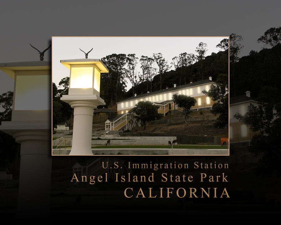 Dusk In China Cove - Usis - United States Immigration Station Angel Island State Park California Photograph  - Dusk In China Cove - Usis - United States Immigration Station Angel Island State Park California Fine Art Print