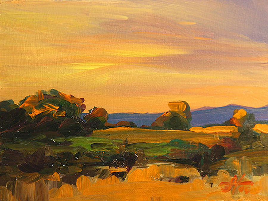 Dusk In Essex Painting
