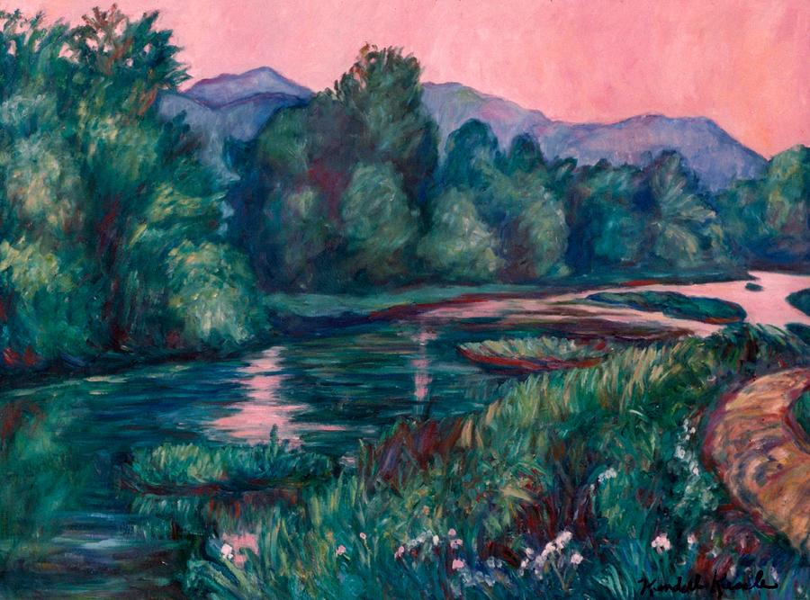Dusk On The Little River Painting