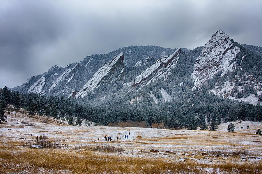 Dusted Flatirons Chautauqua Park Boulder Colorado Photograph