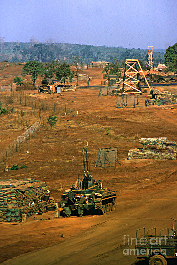 Duster Of 4/60th Artillery At  Lz Oasis Vietnam 1969 Photograph