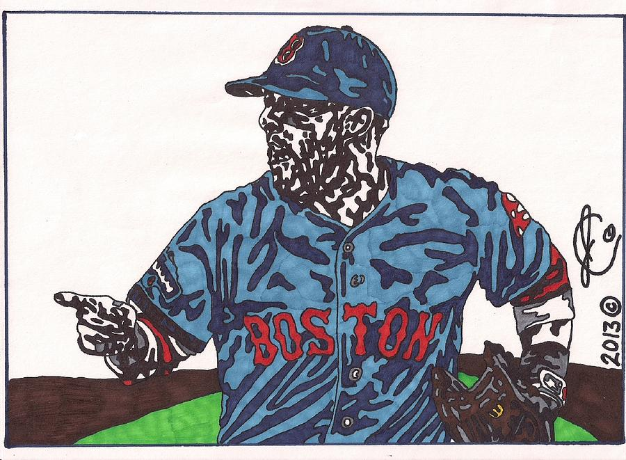 Dustin Pedroia Drawing