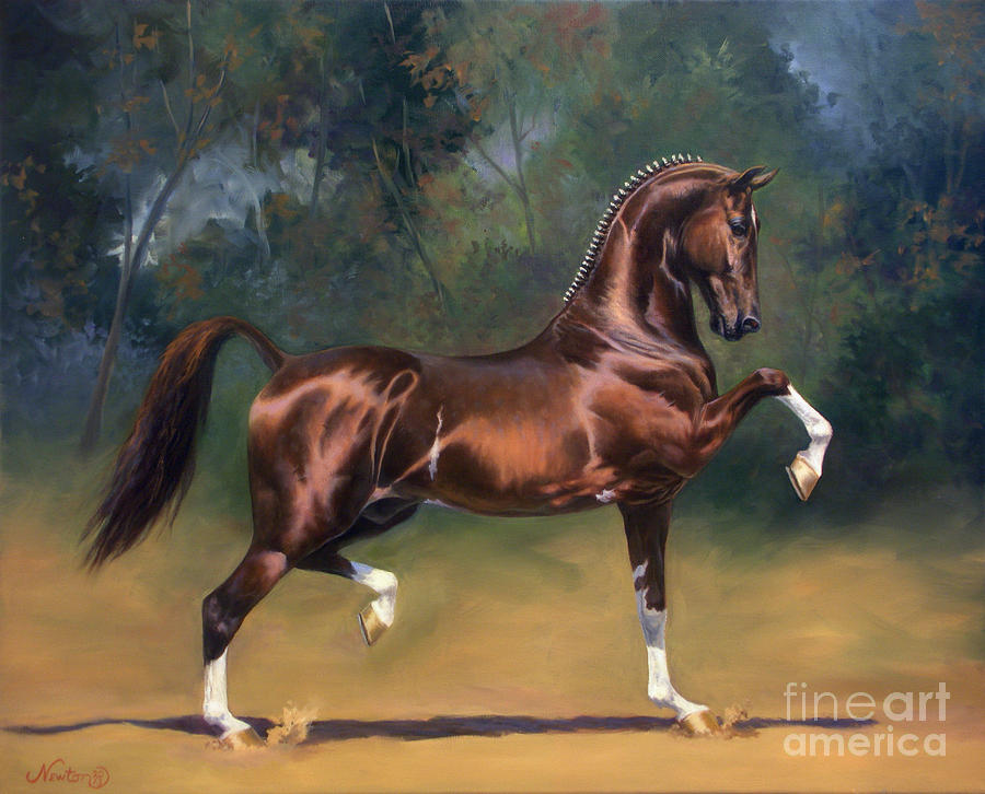Dutch Harness Horse Saffraan Painting  - Dutch Harness Horse Saffraan Fine Art Print