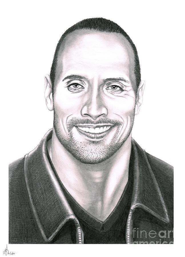 Dwayne Johnson The Rock is a drawing by Murphy Elliott which was ...