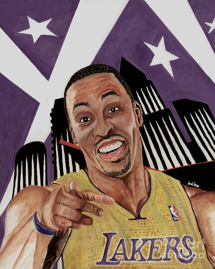 Dwight Howard Lakers Painting - Dwight Howard Welcome To The  Lake Show by Israel Torres