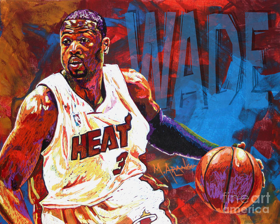 Dwyane Wade 2 Painting