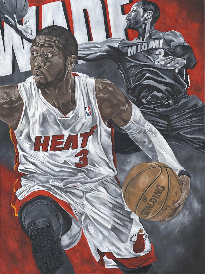 Dwyane Wade Painting