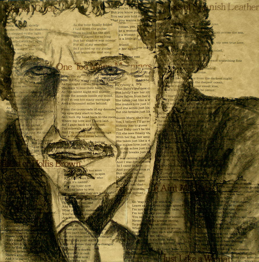 Dylan The Poet Drawing  - Dylan The Poet Fine Art Print
