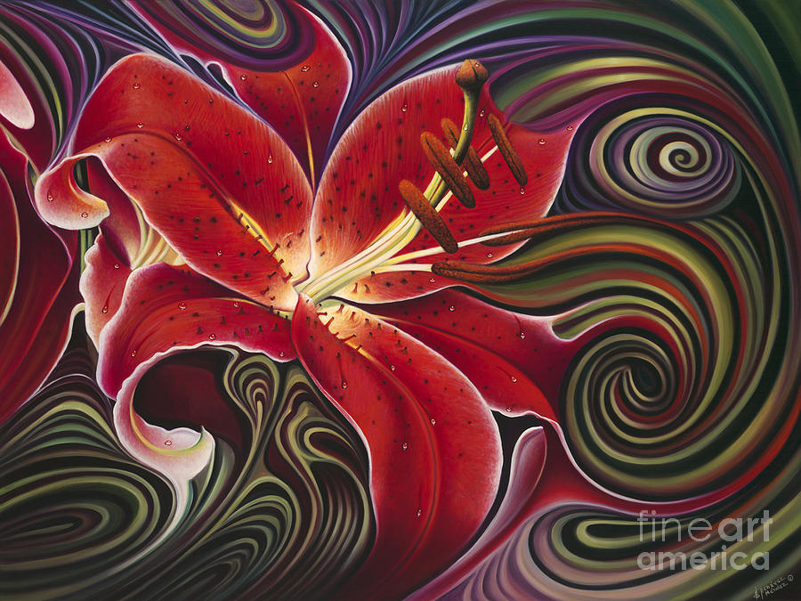 Dynamic Red Painting  - Dynamic Red Fine Art Print