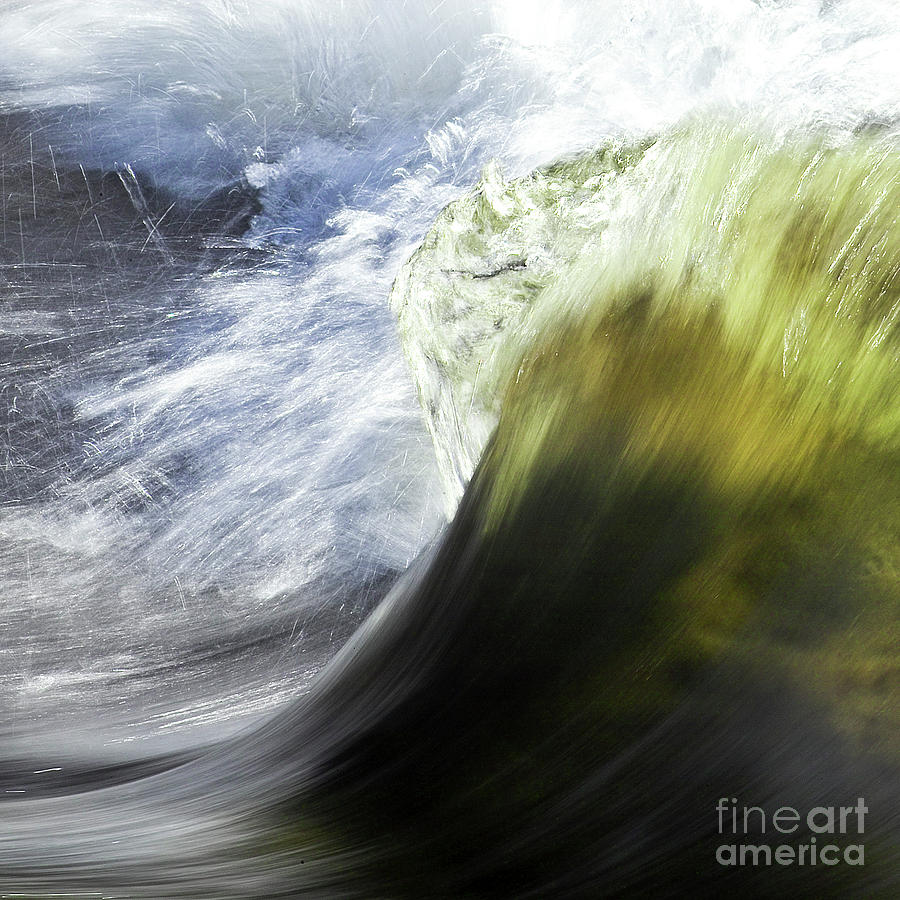 Dynamic River Wave Photograph