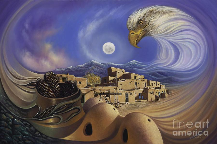 Taos Painting - Dynamic Taos Ill by Ricardo Chavez-Mendez