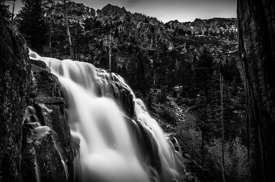 Eagle Falls Black And White Photograph