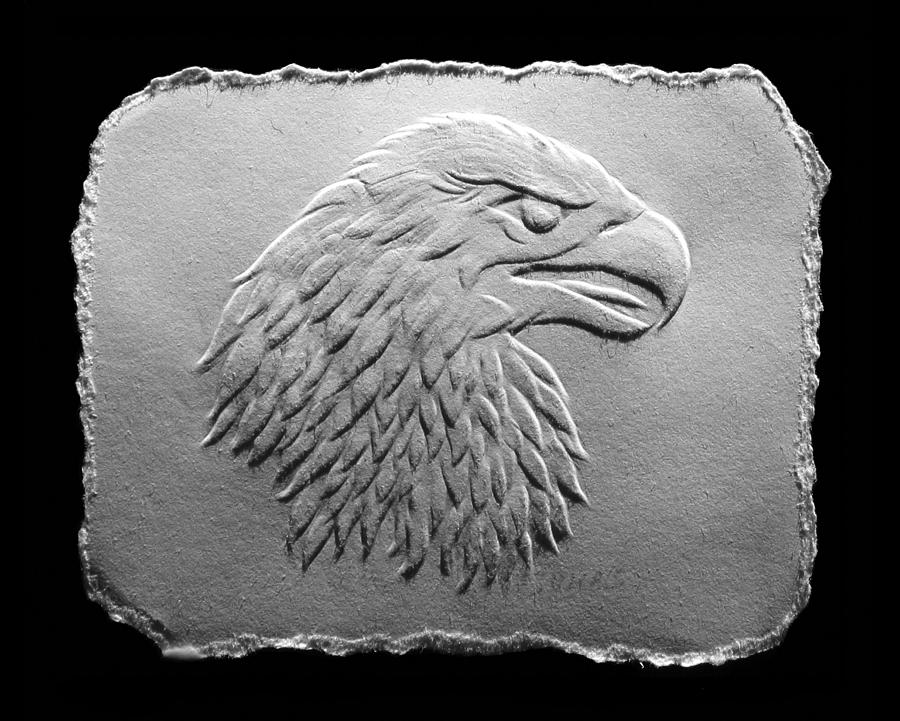 Eagle Head Relief  - Eagle Head Fine Art Print