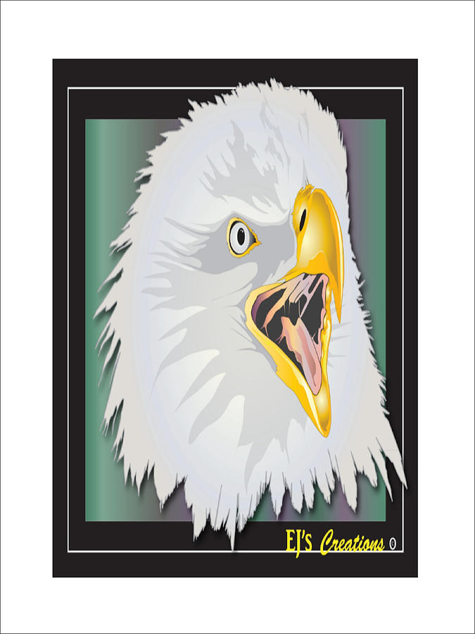 Eagle No 5 Digital Art  - Eagle No 5 Fine Art Print