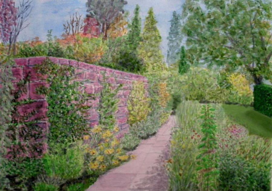 Early Autumn In Ness Gardens - Wirral Painting  - Early Autumn In Ness Gardens - Wirral Fine Art Print