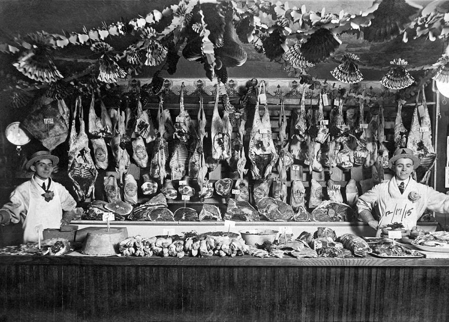 Early Butcher Shop Photograph