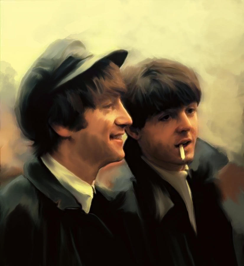Early Days John Lennon And Paul Mccartney Painting