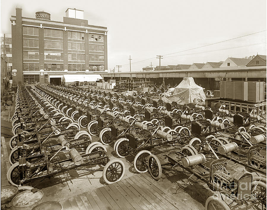 Early Ford Motor Company Assembly Plant Model T Completed
