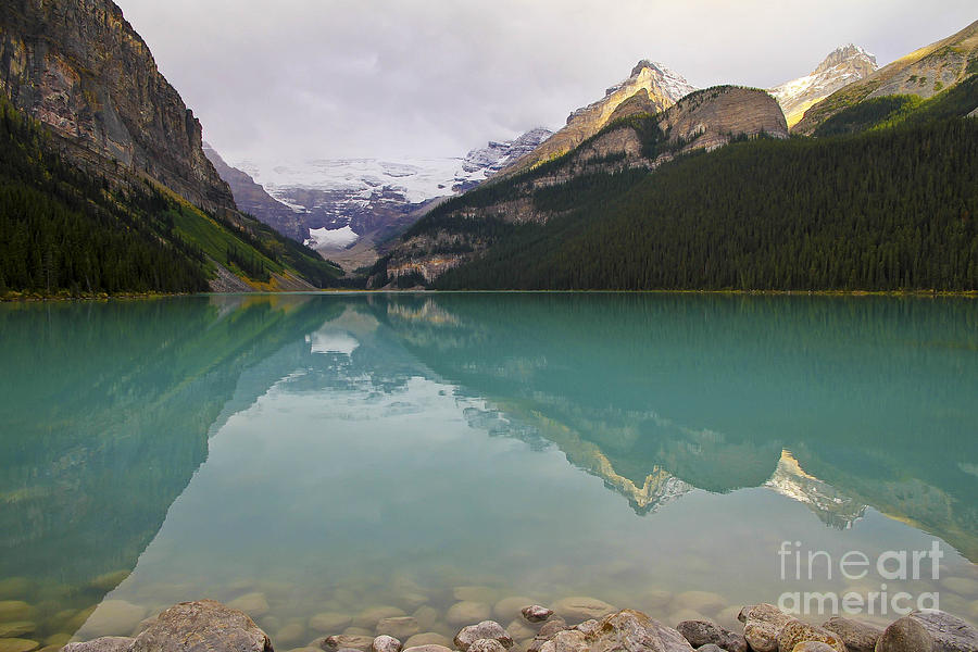 Early Morning At Lake Louise Photograph  - Early Morning At Lake Louise Fine Art Print