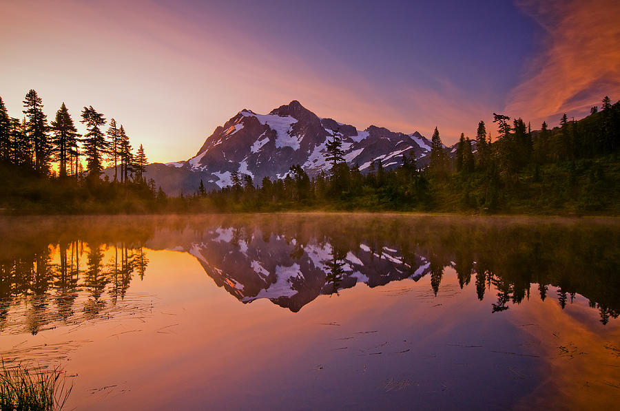 Early Morning At Picture Lake Photograph  - Early Morning At Picture Lake Fine Art Print