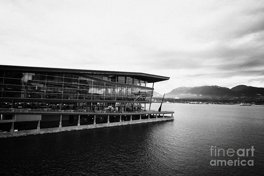 early morning at the Vancouver convention centre west building on burrard inlet BC Canada Photograph