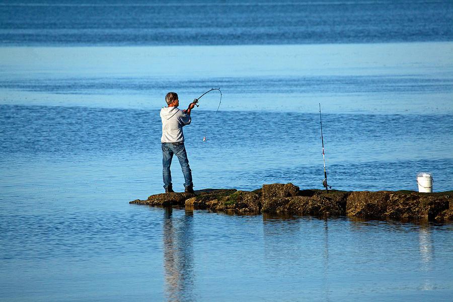 Early Morning Fishing Photograph