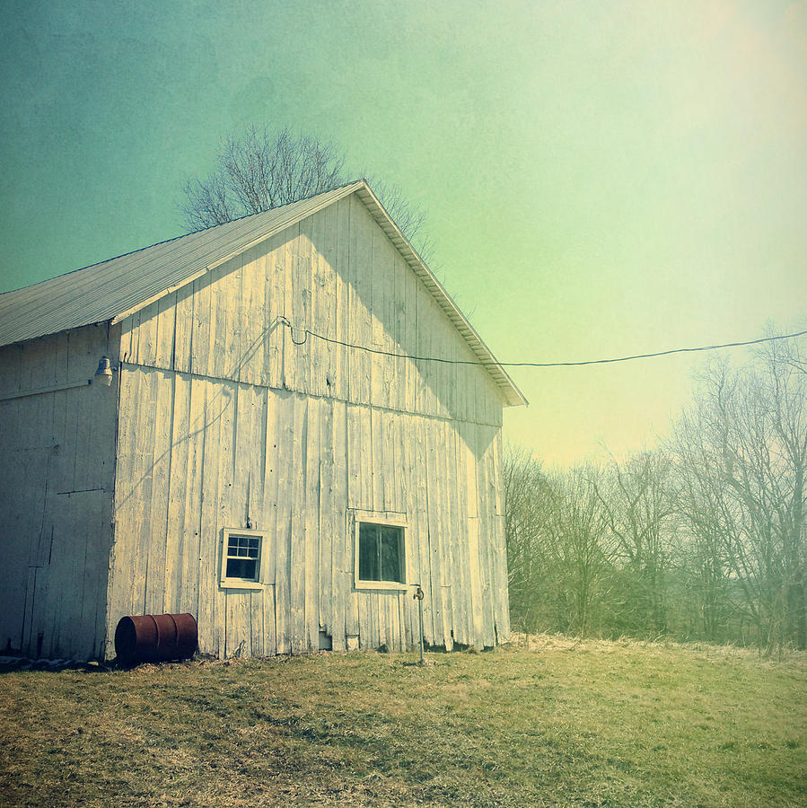 Barn Photograph - Early Morning Light by Joy StClaire