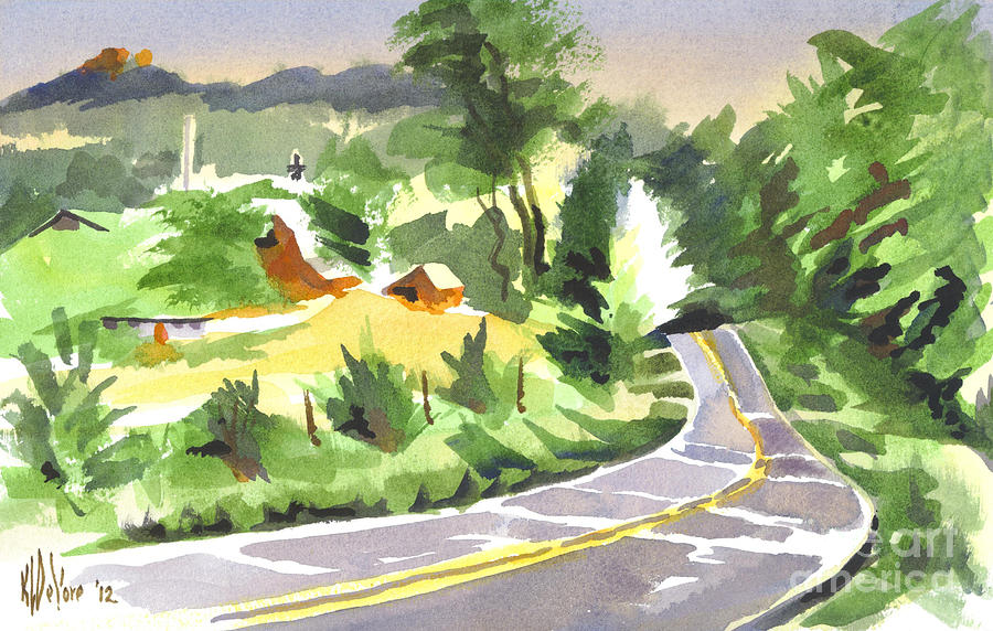Early Morning Out Route Jj Painting - Early Morning Out Route Jj by Kip DeVore