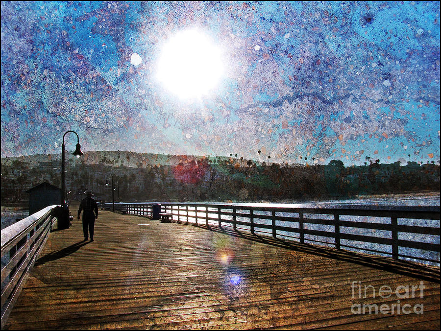 Early Morning Walk On The Pier Photograph  - Early Morning Walk On The Pier Fine Art Print