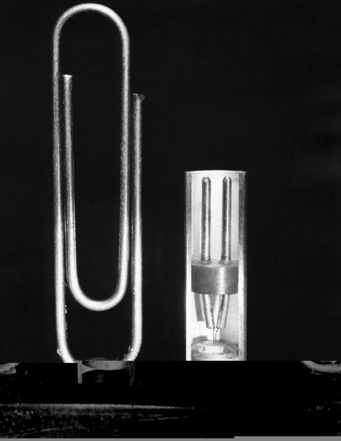 Physics Photograph - Early Point Contact Transistor by Science Photo Library