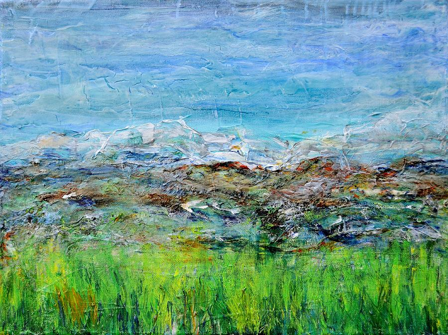 Acrylic Painting - Early Spring Range by Regina Valluzzi